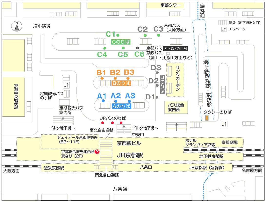 京都駅バス乗り場