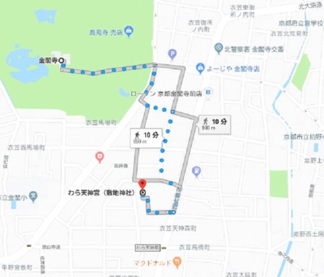 わら天神(敷地神社) 地図