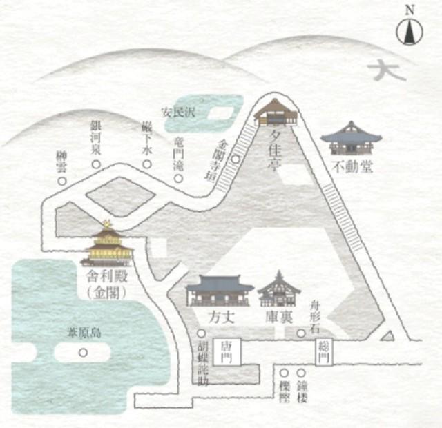 金閣寺ルートマップ