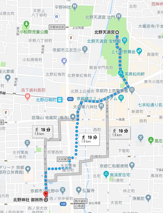 御旅所の地図